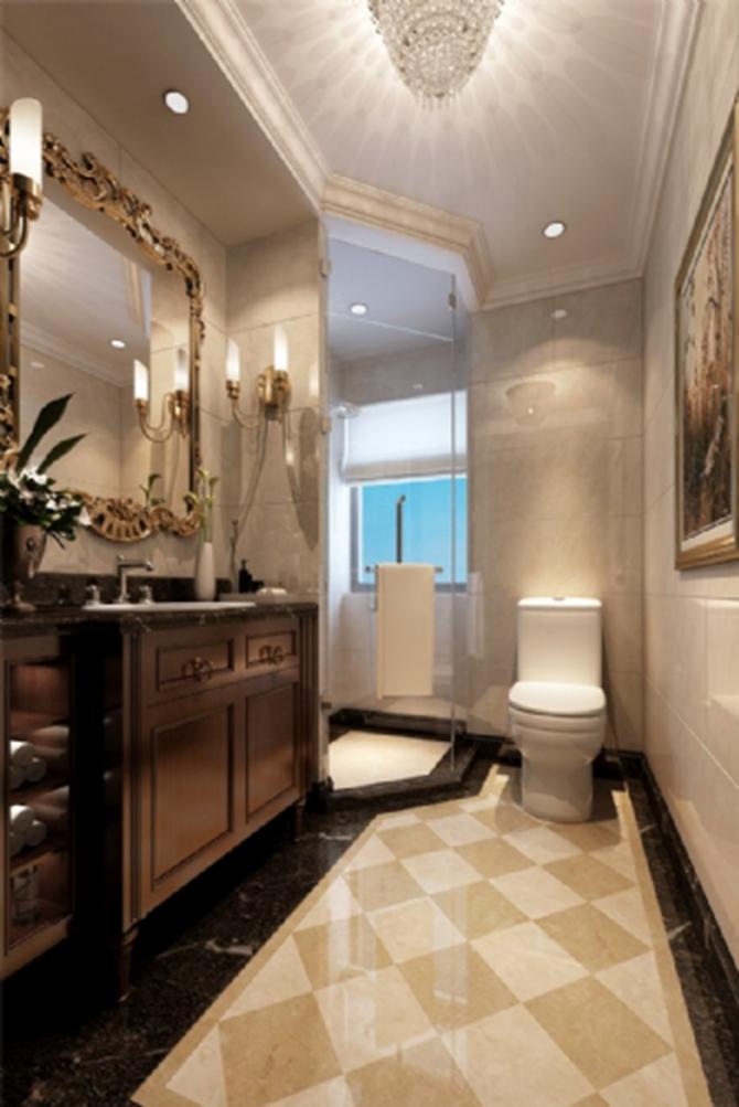 卫生间图片来自峰上大宅装饰长沙在第六都-法式风格的分享