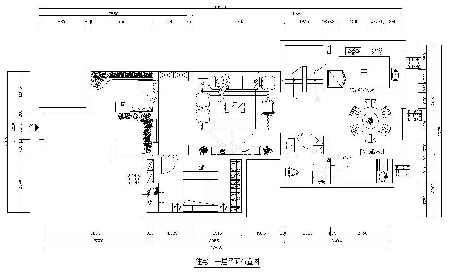 美式 小资 复式 户型图图片来自西安业之峰装饰在龙湖香醍——美式风格的分享