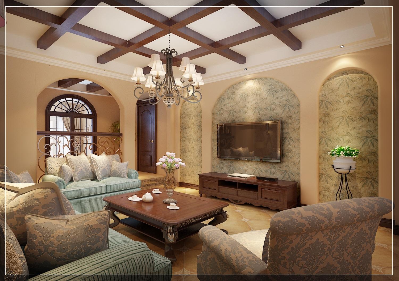 美式 小资 复式 客厅图片来自西安业之峰装饰在龙湖香醍——美式风格的分享