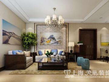 昌建誉峰两室两厅新中式装修案例