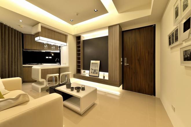 二居 简约 客厅图片来自四川岚庭装饰工程有限公司在开敞空间的66平米微型公寓的分享