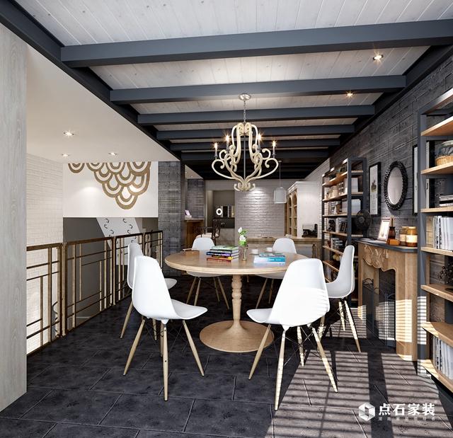 别墅 美式 80后 餐厅图片来自湖南点石家装在TOFT·空间的生存的分享