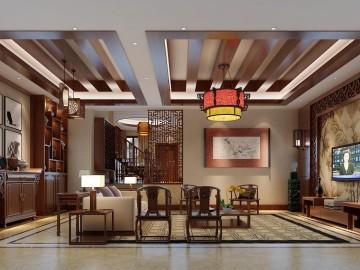 芙蓉古城350平新中式风格