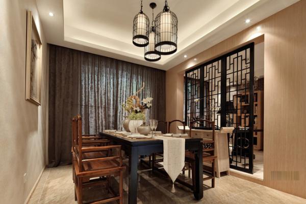 中式餐厅设计为了更契合寓居的请求,选择恰当的中式家具装点中式元素才干让居室分发古雅而清爽的魅力