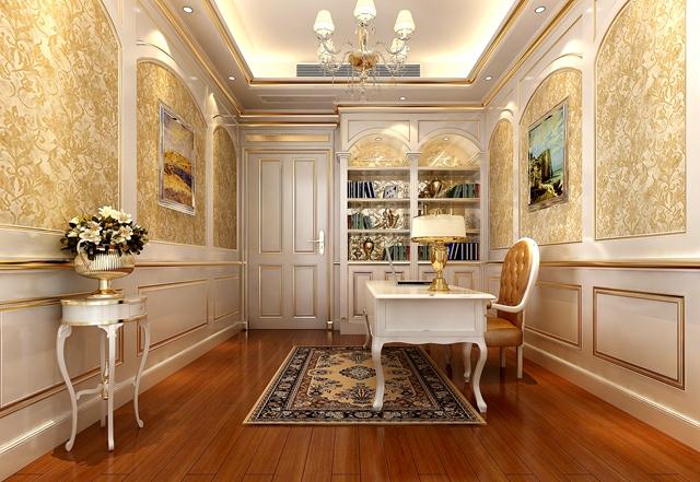 欧式 别墅 宫廷 书房图片来自湖南点石家装在宫廷欧式的分享