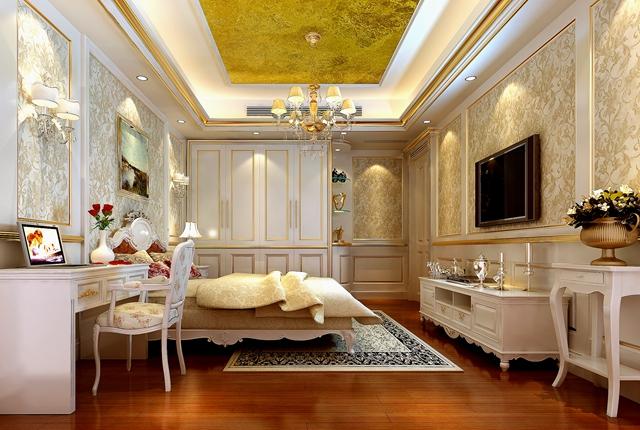欧式 别墅 宫廷 卧室图片来自湖南点石家装在宫廷欧式的分享