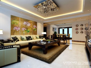 中海凯旋门 191㎡ 新中式风格