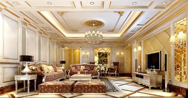 欧式 别墅 宫廷 客厅图片来自湖南点石家装在宫廷欧式的分享