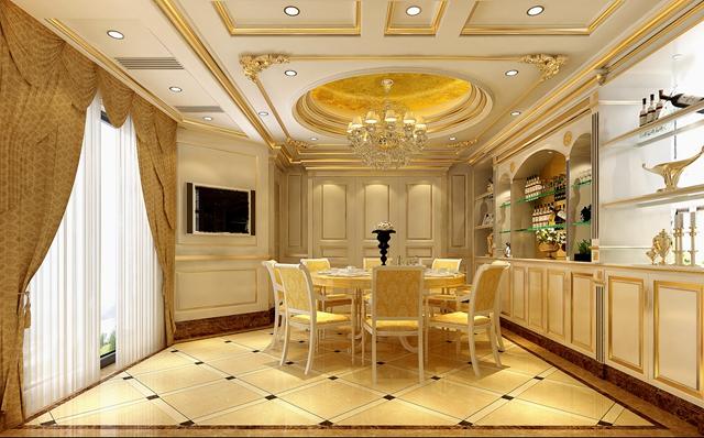欧式 别墅 宫廷 餐厅图片来自湖南点石家装在宫廷欧式的分享
