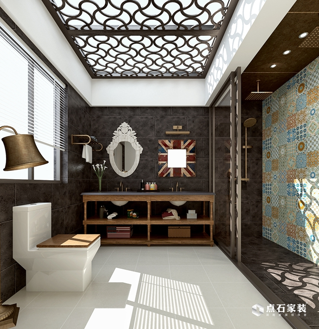 别墅 美式 80后 卫生间图片来自湖南点石家装在TOFT·空间的生存的分享