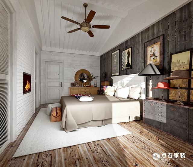 别墅 美式 80后 卧室图片来自湖南点石家装在TOFT·空间的生存的分享