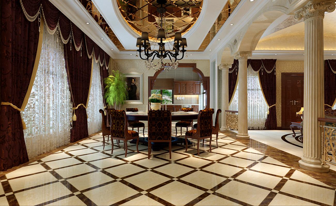 简约 欧式 别墅 餐厅图片来自实创装饰上海公司在独栋别墅欧式风格装修设计的分享