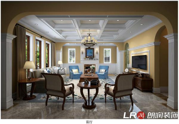 本方案是围绕一个三代同堂的大家庭打造的美式风格。不加过多修饰与约束的美式风格,散发出迷人的休闲式浪漫,