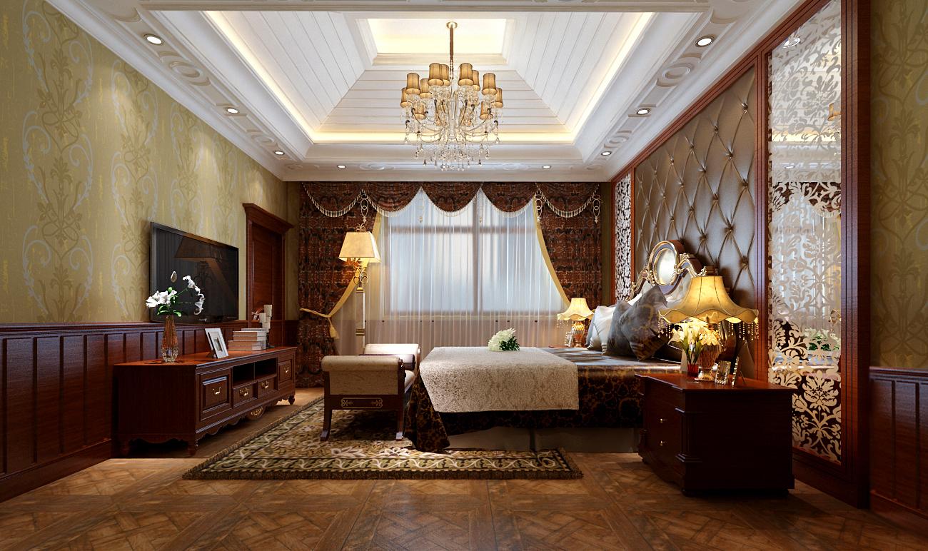 简约 欧式 别墅 卧室图片来自实创装饰上海公司在独栋别墅欧式风格装修设计的分享
