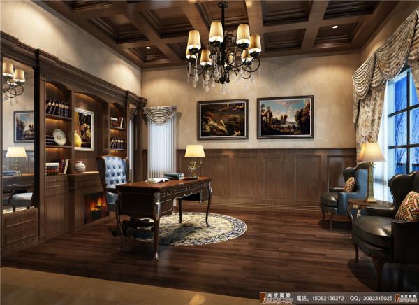 悠山郡书房细节效果图---成都高度国际装饰设计