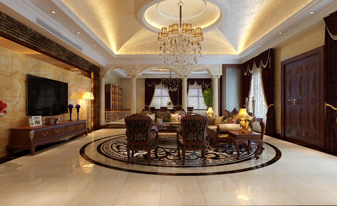 简约 欧式 别墅 客厅图片来自实创装饰上海公司在独栋别墅欧式风格装修设计的分享