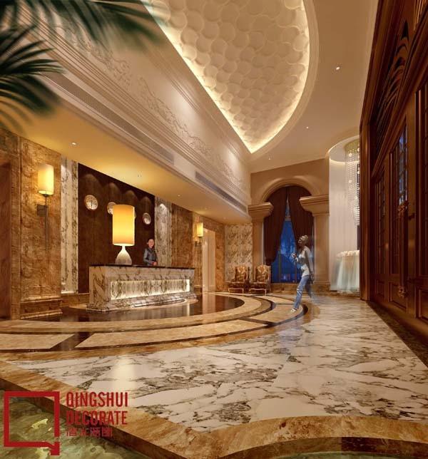 酒店大堂设计效果图