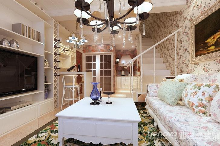 田园风格 兰州装修 业之峰装饰 效果图 客厅图片来自兰州业之峰装饰公司在花开彼岸的分享