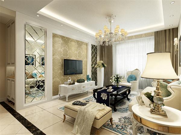 设计的是一简欧风格的作品。简欧风格是欧式装修风格的一种,多以象牙白为主色调,以浅色为主深色为辅。