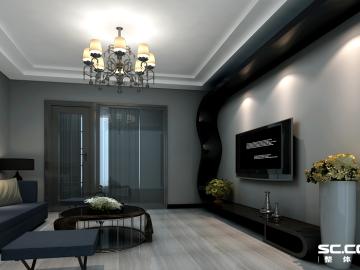 90平两居室黑白诙谐彰显后现代