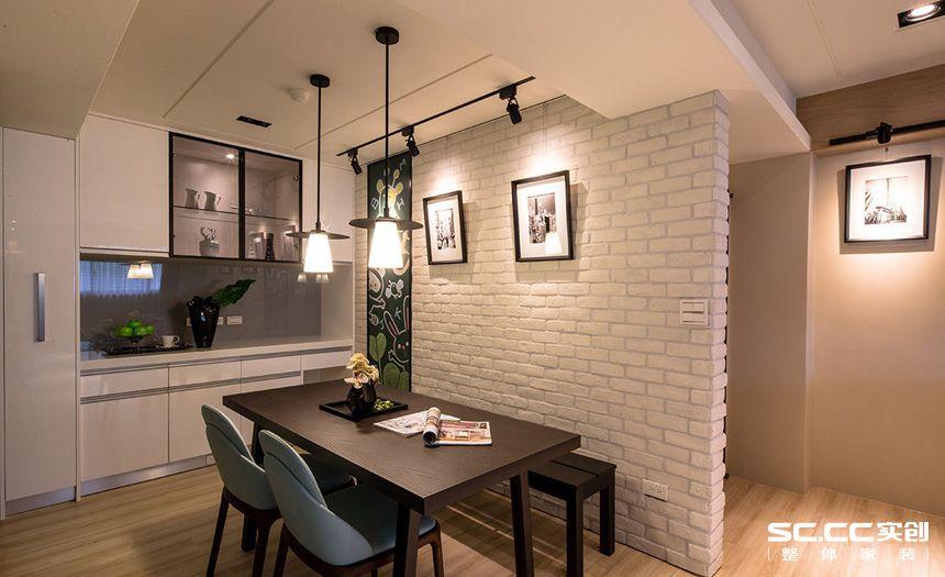 二居 现代 简约 客厅 卧室 厨房 餐厅 旧房 精装 餐厅图片来自实创装饰晶晶在张杨路78平旧房改造简约而不简单的分享