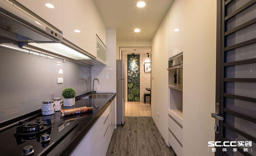 二居 现代 简约 客厅 卧室 厨房 餐厅 旧房 精装 厨房图片来自实创装饰晶晶在张杨路78平旧房改造简约而不简单的分享
