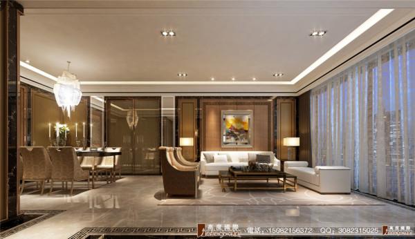 中环岛港式奢华风客厅细节效果图---高度国际装饰