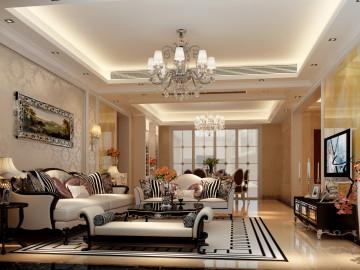 简欧风格--四居室--168平