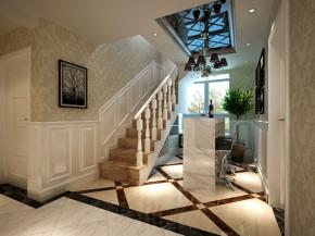 欧式 新古典 四居 小资 楼梯图片来自西安业之峰装饰在【悦明园小区】——新古典欧式的分享