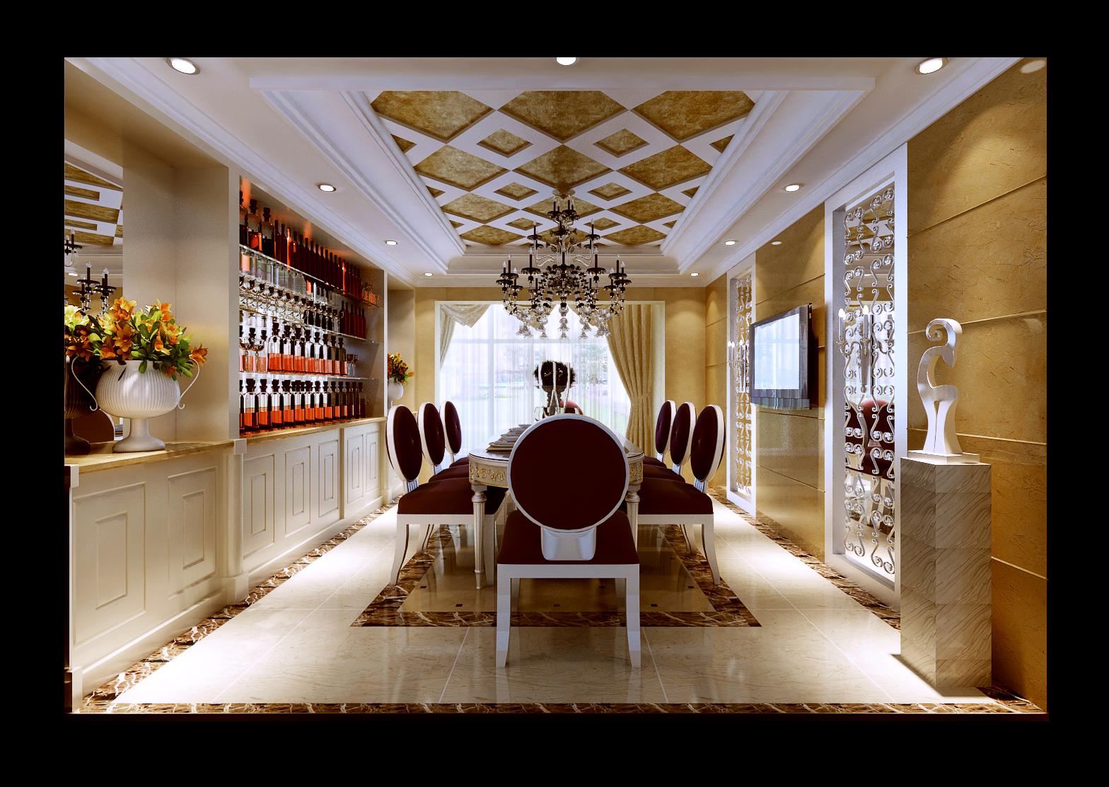 简约 欧式 复式 餐厅图片来自实创装饰上海公司在200平复式楼欧式风格装修设计的分享