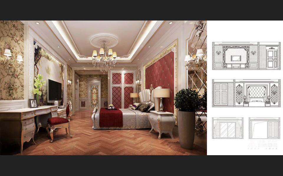 欧式 四世同堂 别墅 卧室图片来自北京精诚兴业装饰公司在万万树的分享