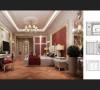 墙面最好用壁纸,或选用优质乳胶漆,以烘托豪华效果。