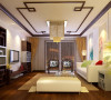 亮点:木线条装饰,中式的座椅与浅色的沙发明显对比,融合在一个空间。