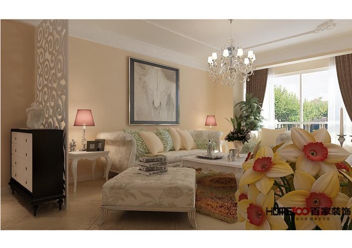 田园 二居 80后 小资 白领 客厅图片来自百家装饰杨乐乐在中海寰宇 96平田园风格的分享