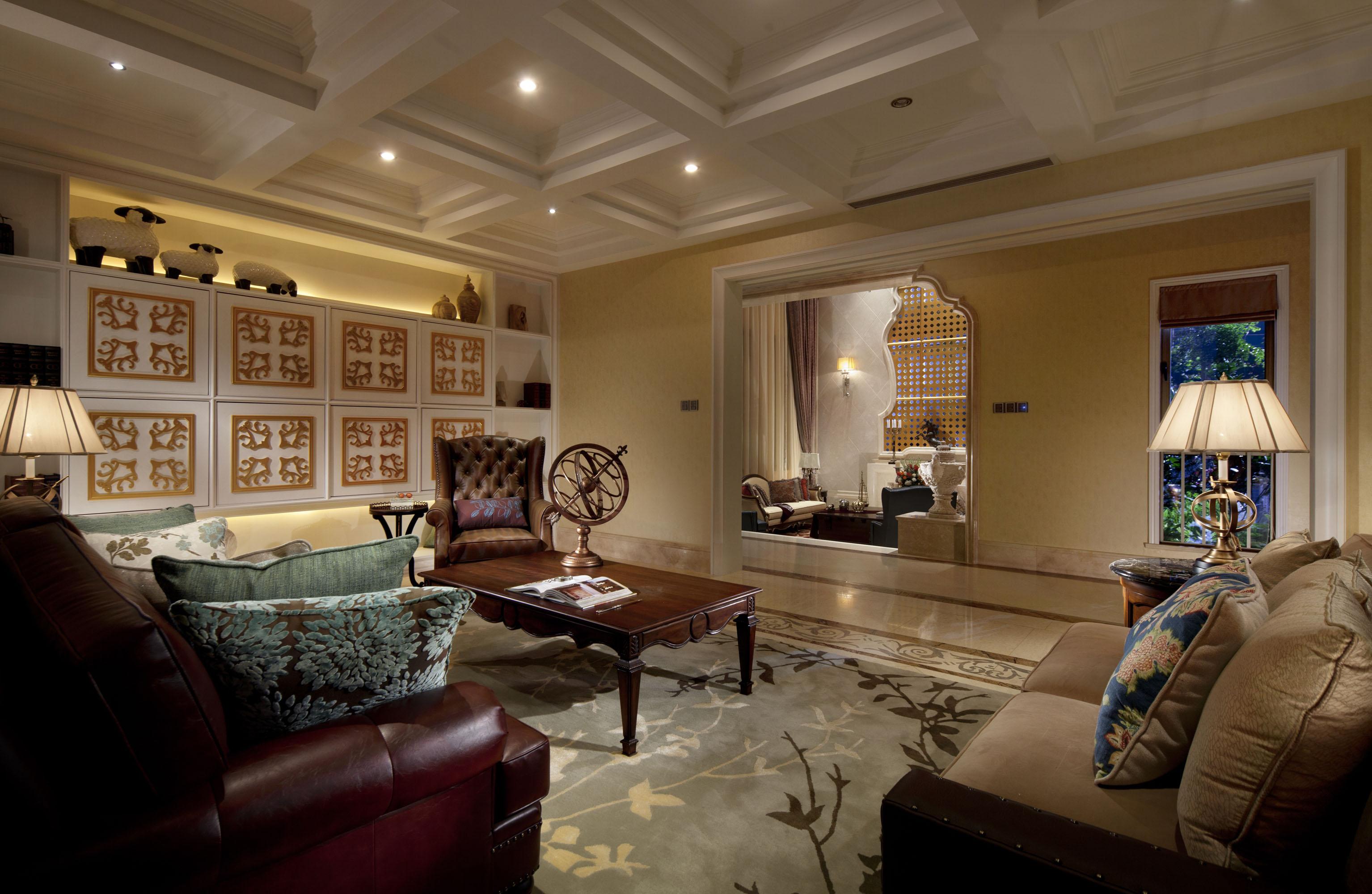 美式风格 别墅 白领 80后 客厅图片来自孟庆莹在美式风格之香江别墅的分享