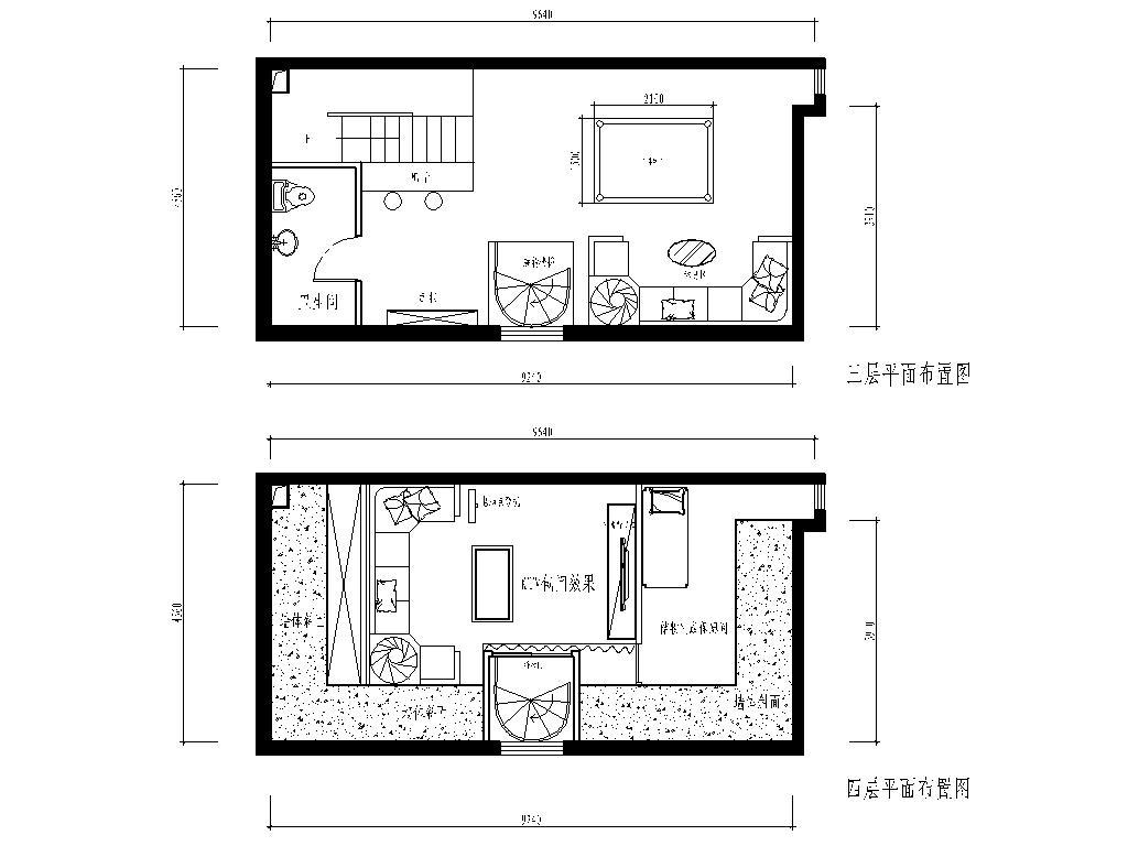 简约 欧式 复式 户型图图片来自实创装饰上海公司在200平复式楼欧式风格装修设计的分享