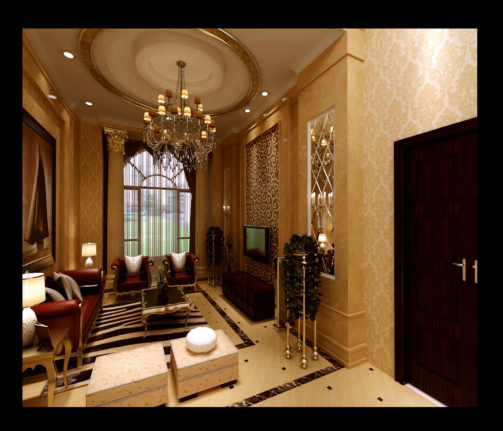 简约 欧式 复式 客厅图片来自实创装饰上海公司在200平复式楼欧式风格装修设计的分享