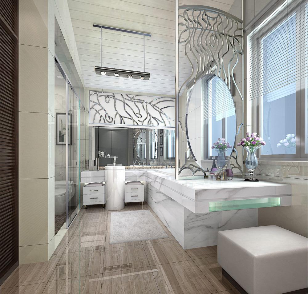 汇一城 简约 现代 浅色系 卫生间图片来自自然元素装饰在汇一城现代简约装修案例的分享