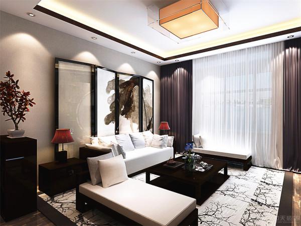 客厅沙发的背景墙采用了传统的屏风,作为装饰的作用,既作为背景墙又有一种修饰的作用~