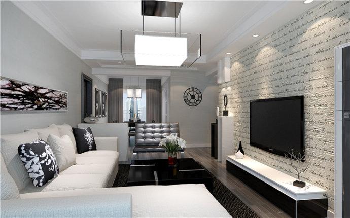 东方润景 现代简约 三居 家装 整体 客厅图片来自郑州实创装饰啊静在东方润景120平现代简约三居的分享