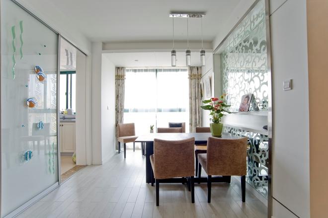二居 简约 餐厅图片来自四川岚庭装饰工程有限公司在绿地468现代两居的分享