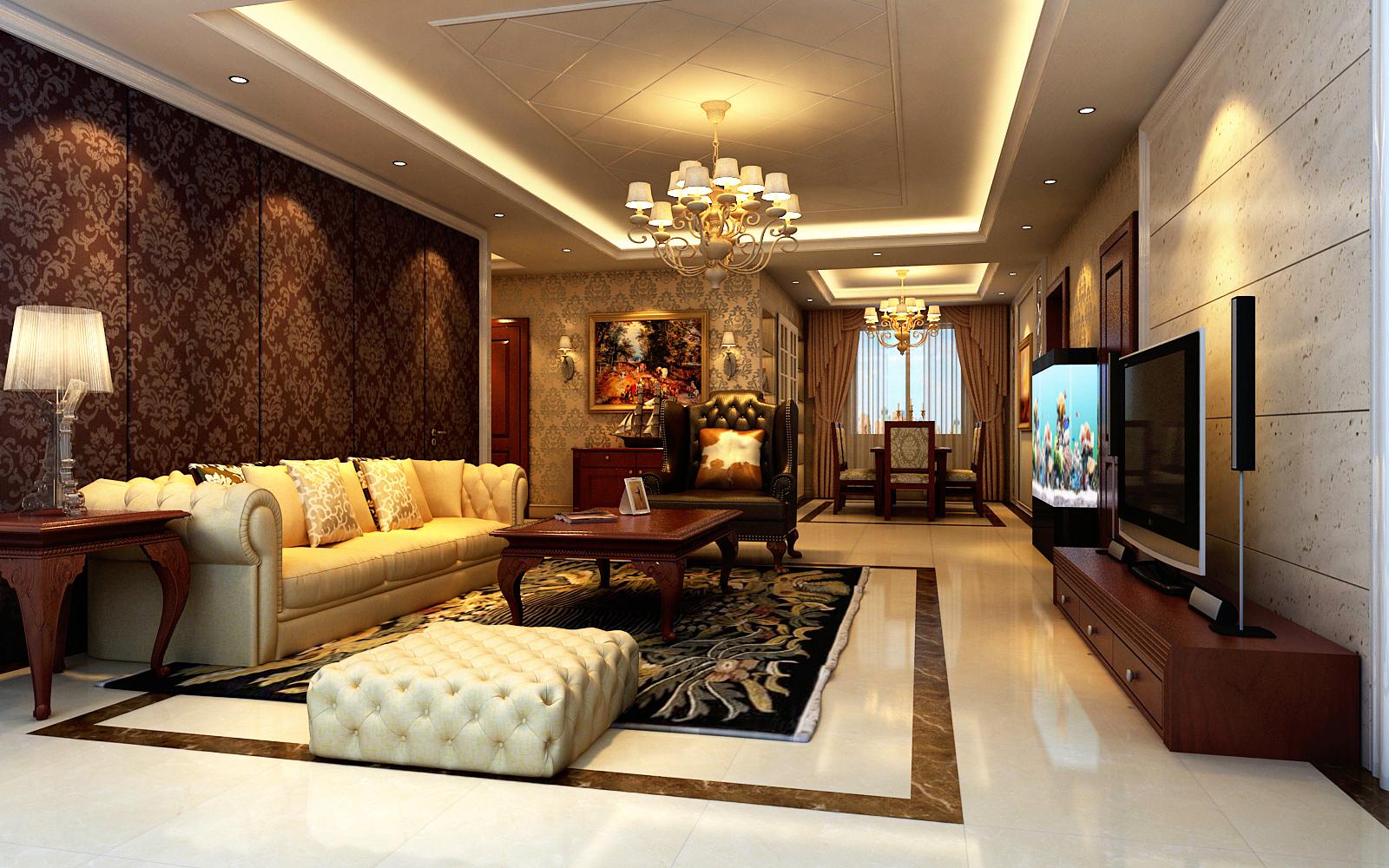 简约 欧式 三居 客厅图片来自实创装饰上海公司在东方城市花园三居室欧式风格的分享