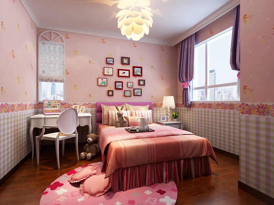 儿童房图片来自天津科艺隆装饰在童年河-现代简约-130㎡的分享