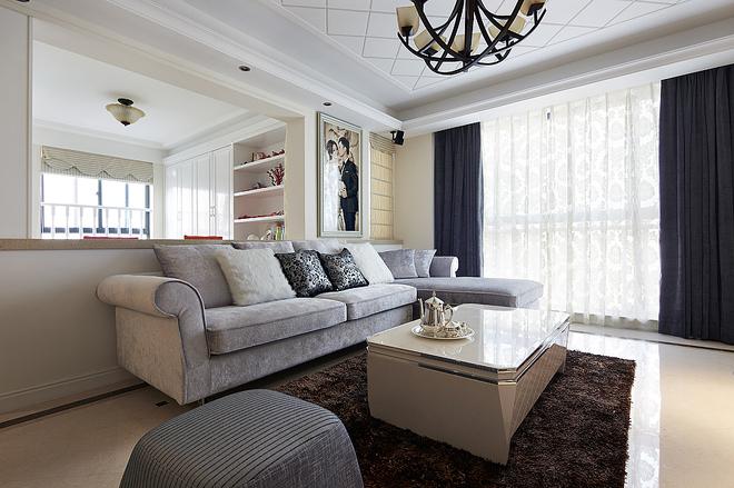 三居 欧式 客厅图片来自四川岚庭装饰工程有限公司在105平简欧三室二厅的分享