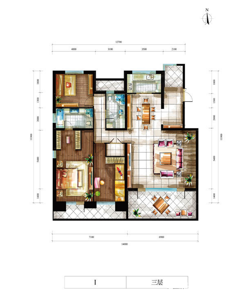 旧房改造 别墅 简约 户型图图片来自北京别墅装修-紫禁尚品在泰禾·北京院子现代简约的分享