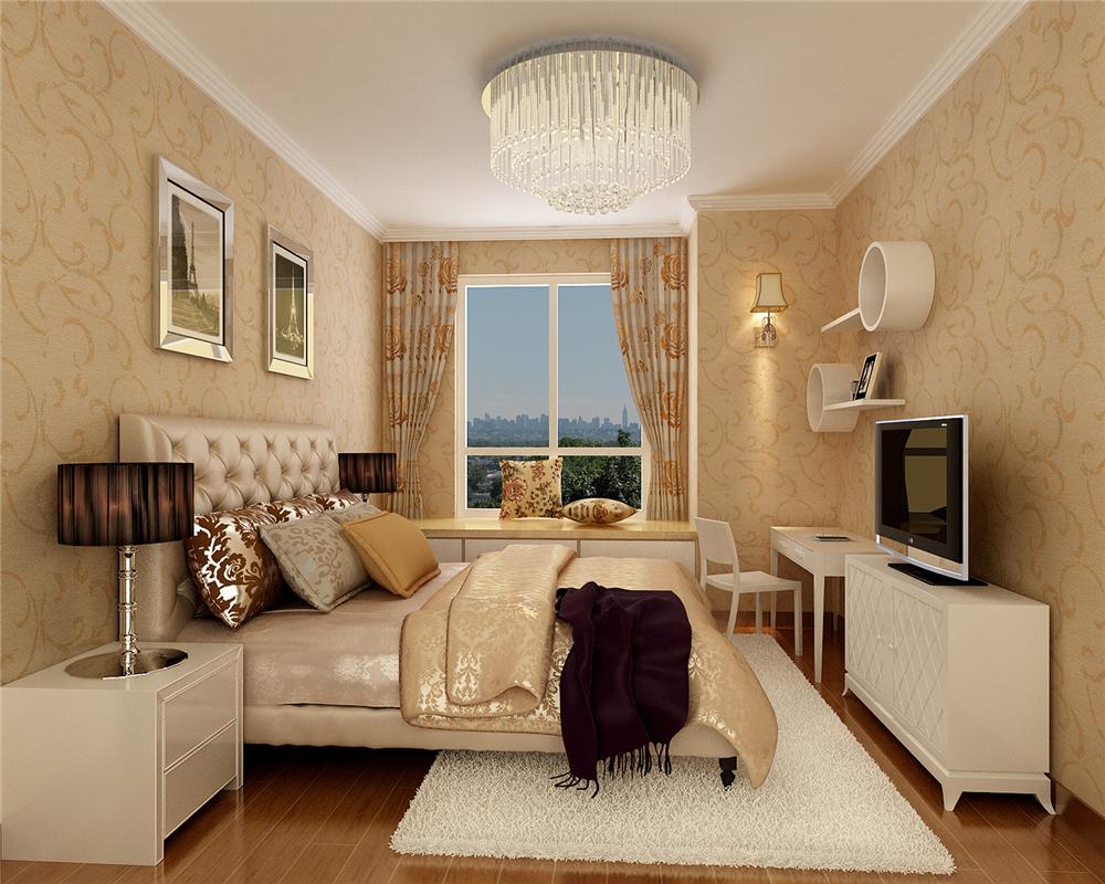 田园 三居 白领 收纳 80后 小资 卧室图片来自实创装饰完美家装在孔雀城才英国宫102平简约时尚的分享