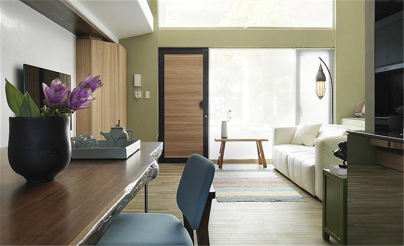 复试 现代简约 简洁明快 纯净 客厅图片来自北京精诚兴业装饰公司在海棠公馆的分享