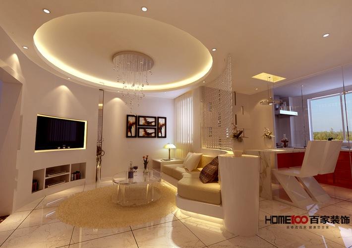 简约 现代 小户型 报价 小资 客厅图片来自百家装饰杨乐乐在保利香槟国际 55平现代简约风格的分享