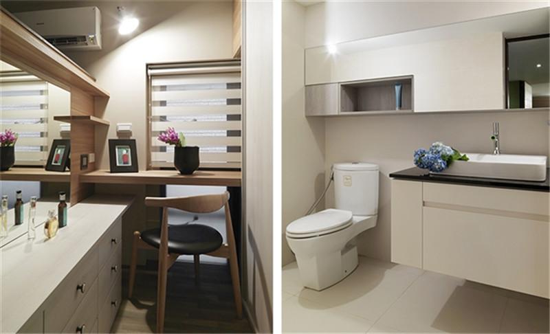 复试 现代简约 简洁明快 纯净 卫生间图片来自北京精诚兴业装饰公司在海棠公馆的分享