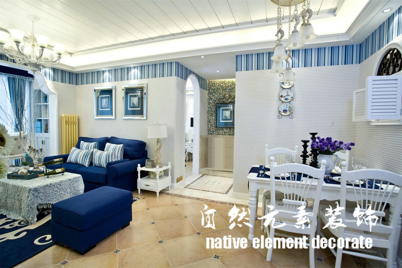南山意境 地中海 二居 客厅图片来自自然元素装饰在南山意境地中海装修案例的分享
